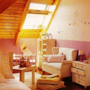Sugerencias para decorar una buhardilla dormitorio for Lamparas para buhardillas