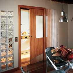 Puertas correderas para ganar espacio tip del dia - Puertas corredizas para cocina ...