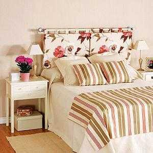 Ideas para el cabecero de tu cama dormitorio decora - Cabeceros de tela decoracion ...