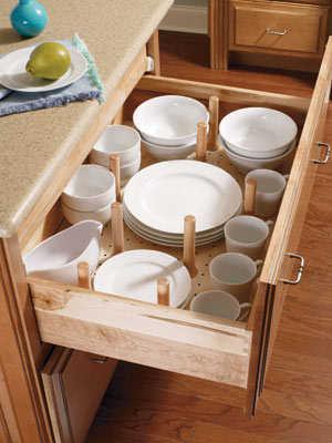 Armarios para la vajilla cocina decora ilumina - Organizador armarios cocina ...