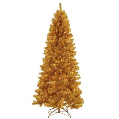 Rboles de navidad de colores navidad decora ilumina - Arbol de navidad dorado ...