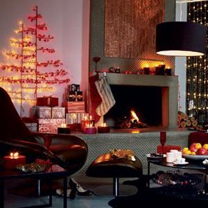 C mo decorar la sala para navidad navidad decora ilumina - Decoracion casa en navidad ...