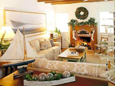Decoraci n navide a para tu casa de playa navidad decora ilumina - Decoracion navidena de casas ...