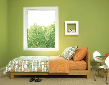 Habitaciones juveniles en tonos verdes dormitorio for Colores beige para paredes exteriores