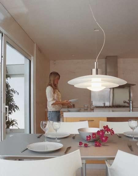 Modelos de l mparas colgantes para el comedor cocina - Iluminacion para cocina comedor ...