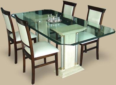 C mo decorar con m rmol tendencias decora ilumina - Bases de marmol para mesas de comedor ...