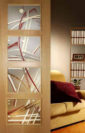 Elegantes puertas de vidrio para el interior de tu casa - Cristales decorativos para puertas de interior ...