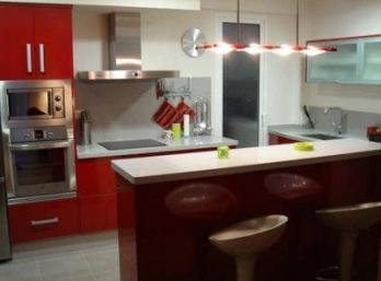 Cocinas con barras cocina decora ilumina for Barra auxiliar para cocina
