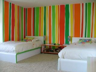 C mo conseguir una decoraci n a rayas tendencias for Paredes pintadas a rayas