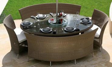 Muebles de rattan para el jardn o la terraza Jardin Decora Ilumina
