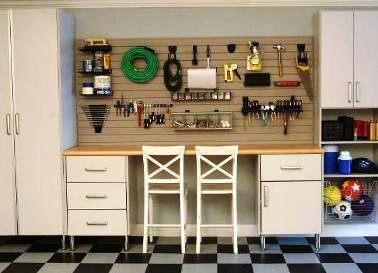 C mo decorar el garage o cochera tip del dia decora for Muebles para garage