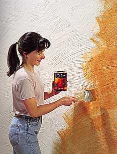 Tipos de p tina para pintar las paredes pintura decora - Formas de pintar paredes con esponja ...