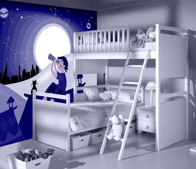 Decoraci n con murales para habitaciones de ni os - Habitaciones de ninos pintadas ...