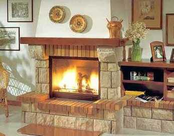 Modelos de chimeneas r sticas sala decora ilumina - Fotos de chimeneas decorativas ...