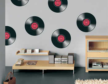 Decoraci n con discos de vinilo tendencias decora ilumina for Como se decora una casa