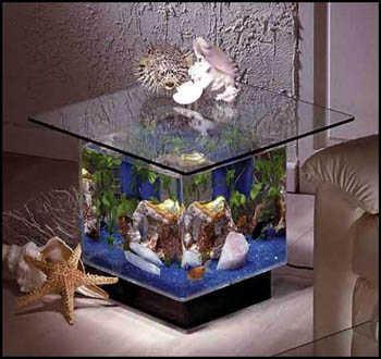 La pecera y el acuario como parte de la decoraci n de - Peceras pequenas decoradas ...