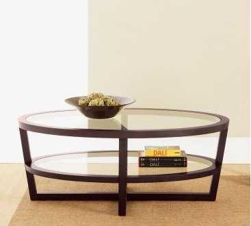 Mesas de centro ovaladas muebles decora ilumina for Mesas ovaladas de cristal