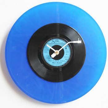 Decoración con discos de vinilo