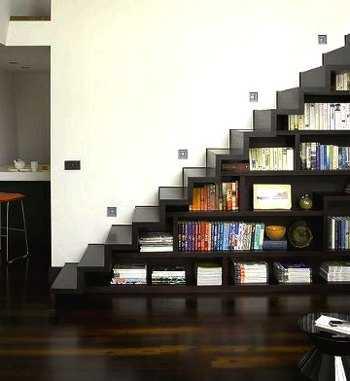 Decoraci n e ideas para mi hogar como aprovechar tu for Librero escalera