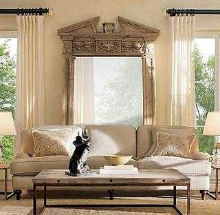 el blanco decapado no solo se emplea en muebles si te gusta el estilo country coloca un espejo de grn tamao con el marco de madera decapada
