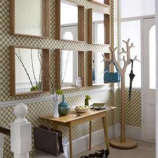 mirrored hallway