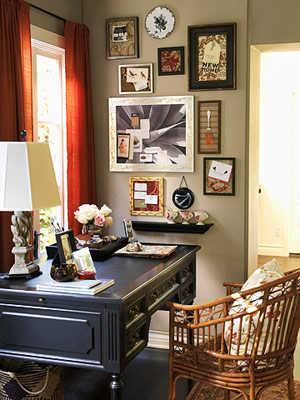 Decoraci n e ideas para mi hogar oficinas vintage en casa - Decoracion despacho en casa ...