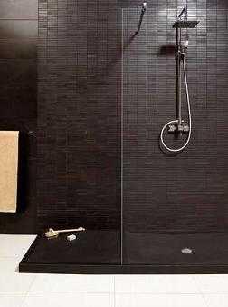 Novedades en platos de ducha ba o decora ilumina - Plato de ducha negro ...