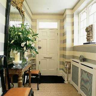 stripped hallway