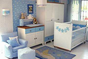 C mo decorar el cuarto del beb dormitorio decora ilumina for Dormitorio bebe varon