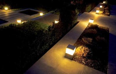 C mo debe ser la iluminaci n de los espacios abiertos - Lamparas exteriores modernas ...