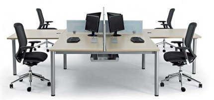 Modelos modernos de mesas para oficina | Oficina - Decora Ilumina