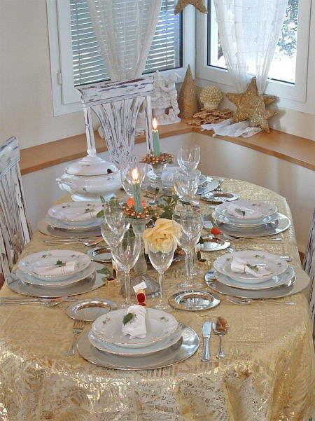 Estilos para decorar la mesa de navidad navidad decora - Mesa para navidad decoracion ...