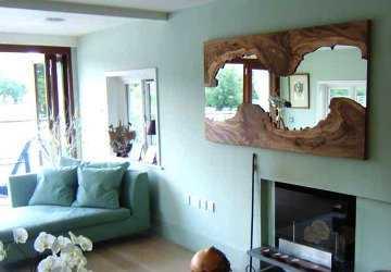 Espejos con matices r sticos tendencias decora ilumina for Disenos de marcos de madera para espejos