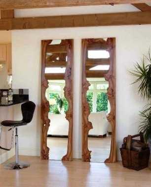 Espejos con matices r sticos tendencias decora ilumina for Disenos de espejos tallados en madera