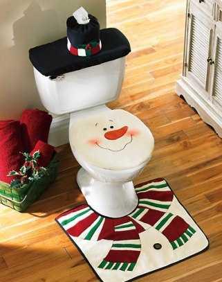 C mo adornar el ba o para navidad navidad decora ilumina for Setas decoracion
