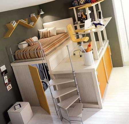 Decoraci n de dormitorios en espacios peque os for Habitaciones para universitarios