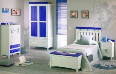 Refresca tus habitaciones con blanco y azul tendencias for Dormitorios juveniles en amazon