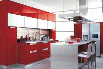 cocina-en-color-rojo