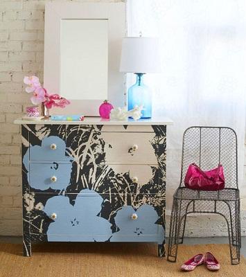C mo transformar una c moda con papel pintado o vinilo for Papel pintado para forrar muebles