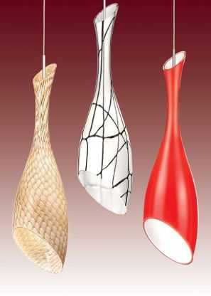 Modernos modelos de l mparas de vidrio iluminacion for Modelos de lamparas