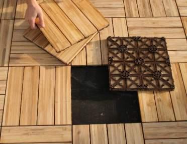 Pr cticas baldosas elaboradas con bamb pisos decora for Baldosas para pisos exteriores