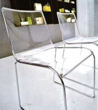 Decore sus habitaciones con sillas transparentes muebles for Sillas cocina transparentes
