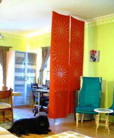 Separar espacios con telares bricolaje decora ilumina - Separadores de ambientes originales ...