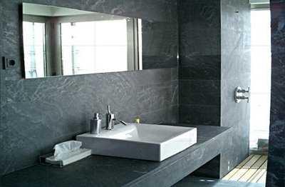 Tendencias en materiales para revestimientos de ba os for Revestimiento de piedra para banos