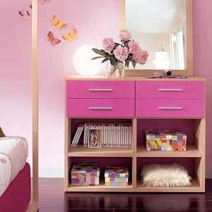Dormitorio para adolescente en rosa y malva dormitorio for Tocadores modernos juveniles