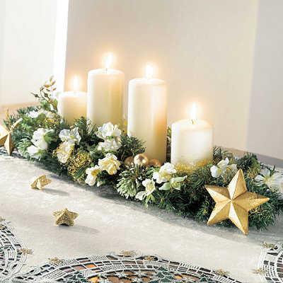 Centros de mesa en navidad hechos en casa navidad - Mesa para navidad decoracion ...