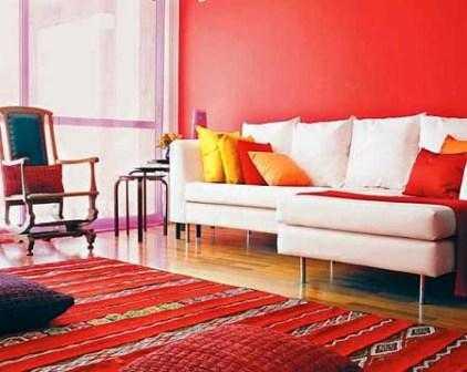 Qu colores usar para pintar una sala peque a pintura - De que color pintar las paredes ...