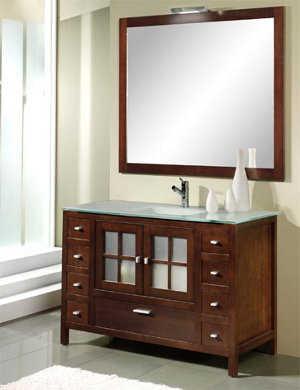 Muebles para el ba o ba o decora ilumina for Muebles de madera para banos modernos