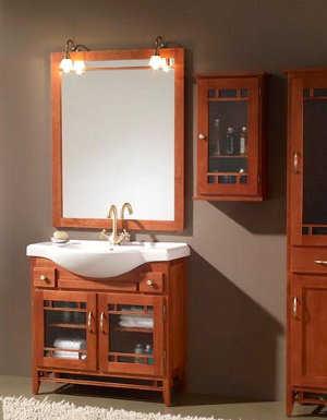 Muebles para el ba o ba o decora ilumina for Disenos de marcos de madera para espejos
