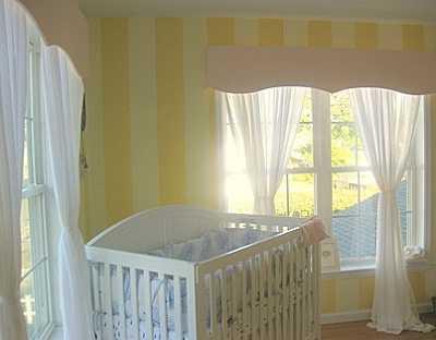 Papeles pintados de rayas tendencias decora ilumina - Habitaciones infantiles pintadas a rayas ...